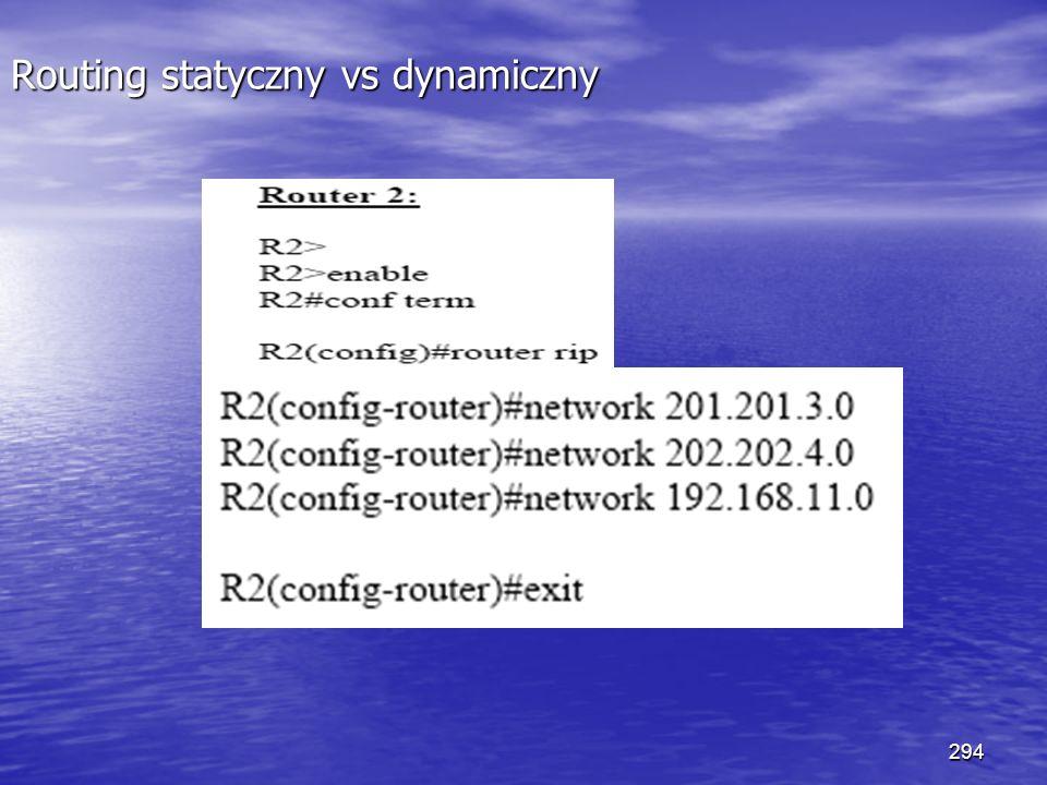 294 Routing statyczny vs dynamiczny
