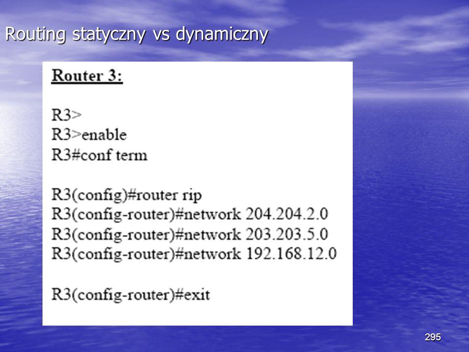 295 Routing statyczny vs dynamiczny