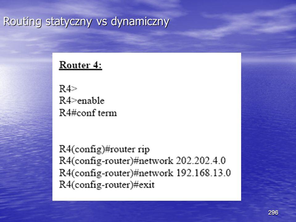 296 Routing statyczny vs dynamiczny