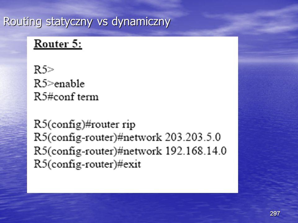 297 Routing statyczny vs dynamiczny