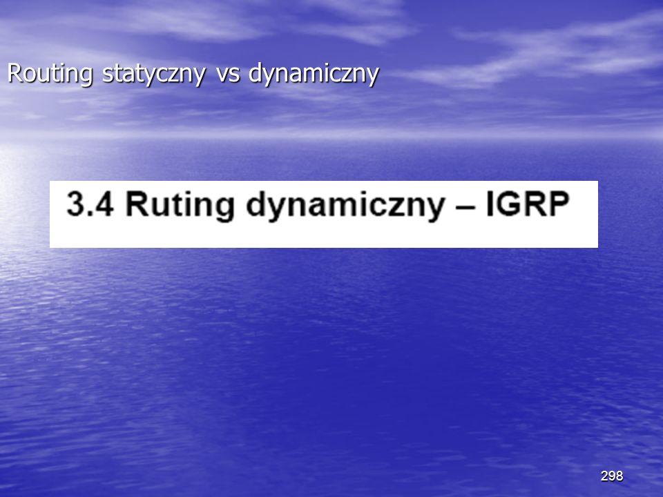 298 Routing statyczny vs dynamiczny