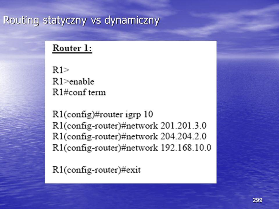 299 Routing statyczny vs dynamiczny
