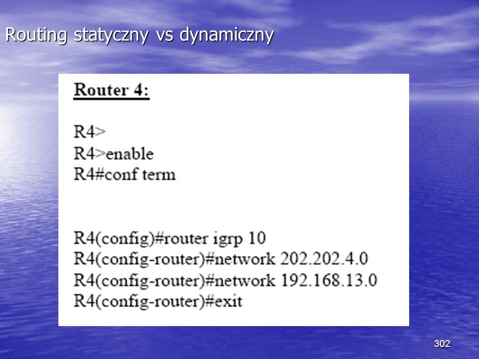 302 Routing statyczny vs dynamiczny