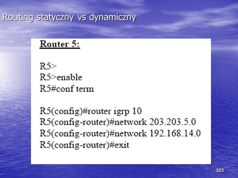 303 Routing statyczny vs dynamiczny