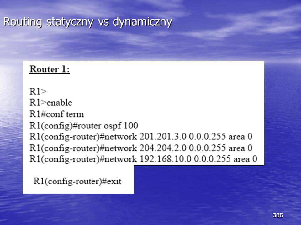 305 Routing statyczny vs dynamiczny