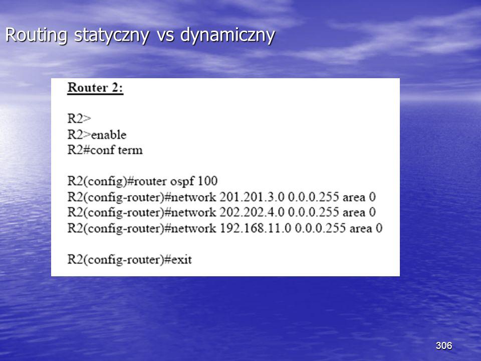 306 Routing statyczny vs dynamiczny
