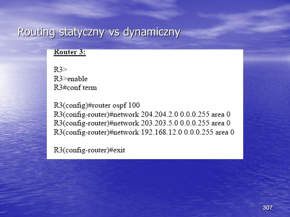 307 Routing statyczny vs dynamiczny