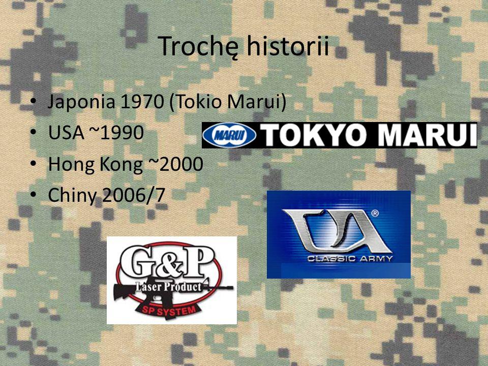 Trochę historii Japonia 1970 (Tokio Marui) USA ~1990 Hong Kong ~2000 Chiny 2006/7