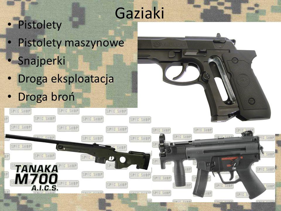Elektryki Karabiny Karabiny wyborowe Karabiny maszynowe Pistolety maszynowe Pistolety