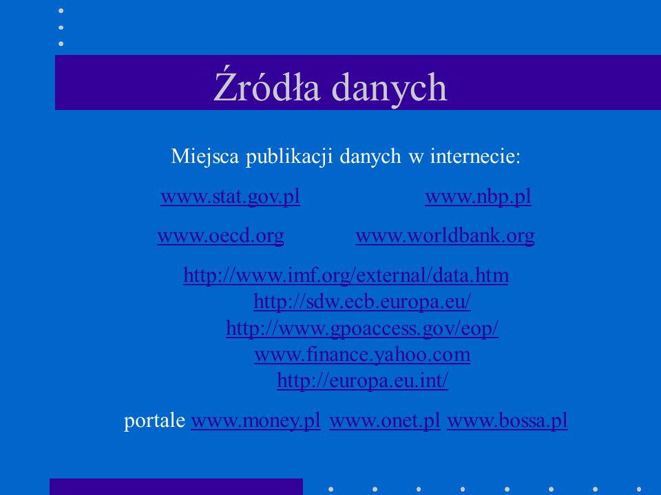 Literatura 1.Cieślak M.[2000] – Prognozowanie gospodarcze 2.Gajda B.