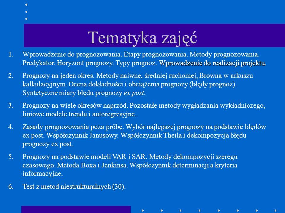 Tematyka zajęć 7.Metody oparte na modelu ekonometrycznym (metody strukturalne) - przypomnienie zasad estymacji ekonometrycznej.