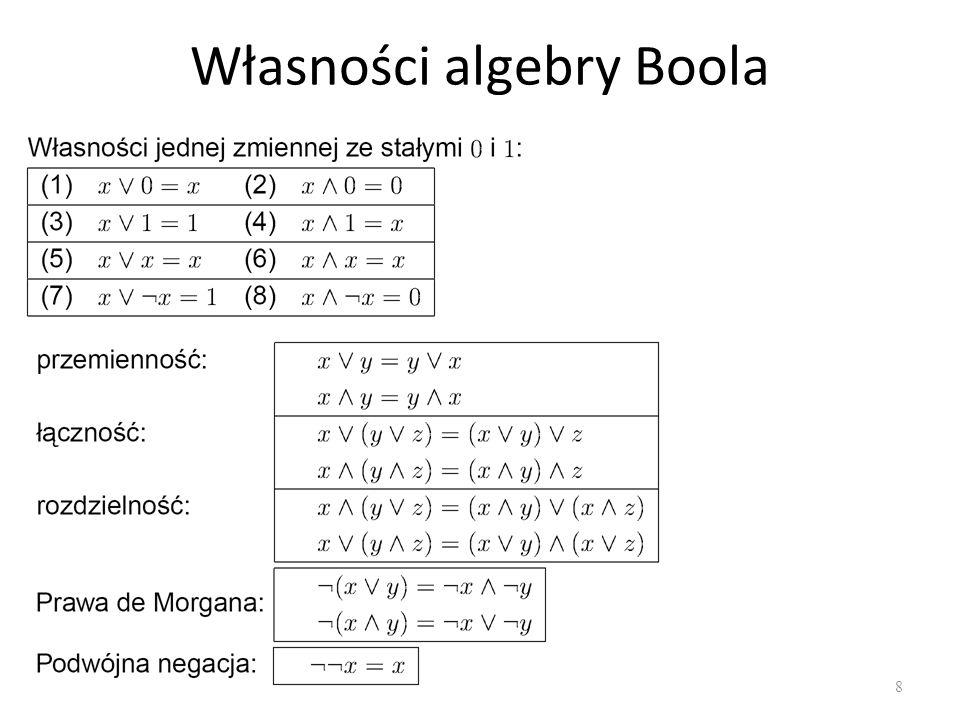 Własności algebry Boola 8