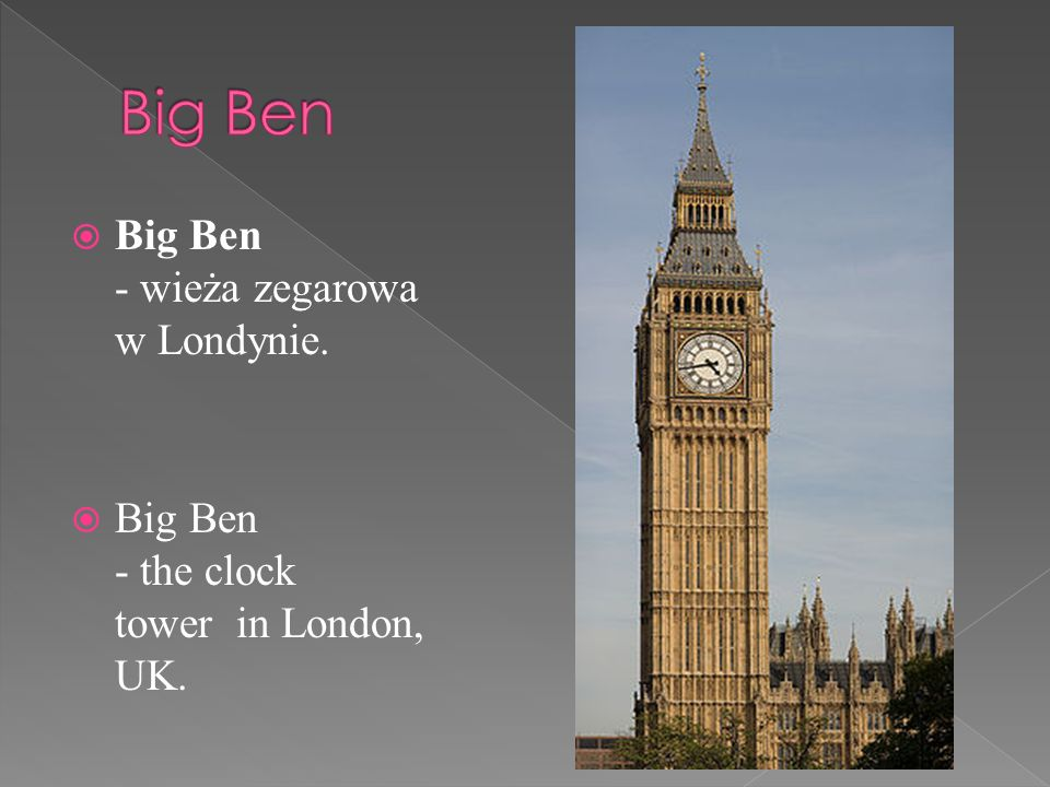Big Ben - wieża zegarowa w Londynie. Big Ben - the clock tower in London, UK.