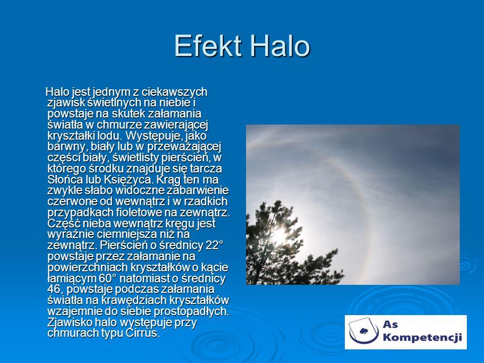 Efekt Halo Halo jest jednym z ciekawszych zjawisk świetlnych na niebie i powstaje na skutek załamania światła w chmurze zawierającej kryształki lodu.