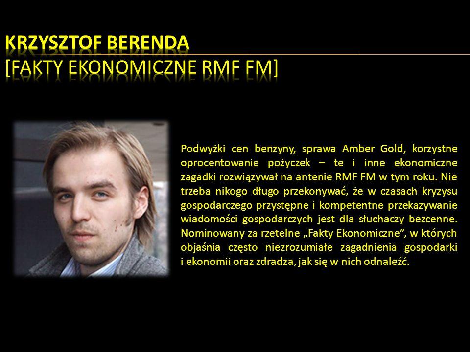 Podwyżki cen benzyny, sprawa Amber Gold, korzystne oprocentowanie pożyczek – te i inne ekonomiczne zagadki rozwiązywał na antenie RMF FM w tym roku.