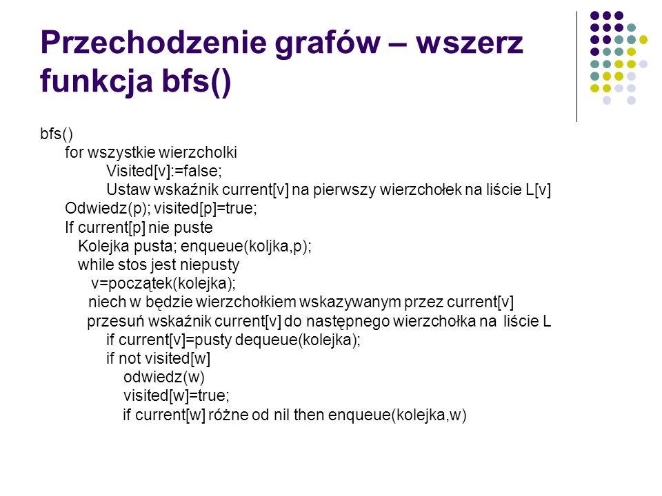 Bibliografia A.Drozdek, C++. Algorytmy i struktury danych, Helion, Gliwice 2004; L.