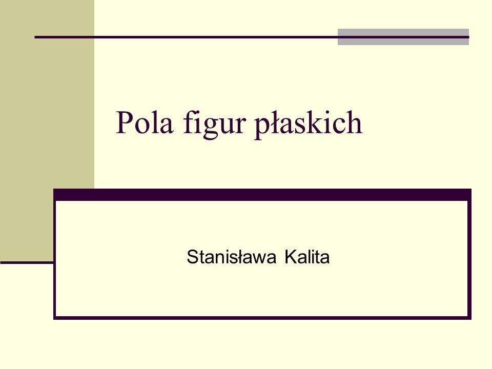 Pola figur płaskich Stanisława Kalita