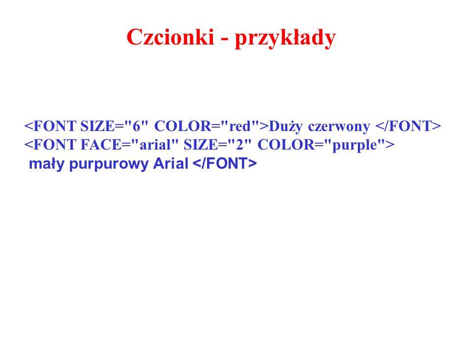 Duży czerwony mały purpurowy Arial Czcionki - przykłady