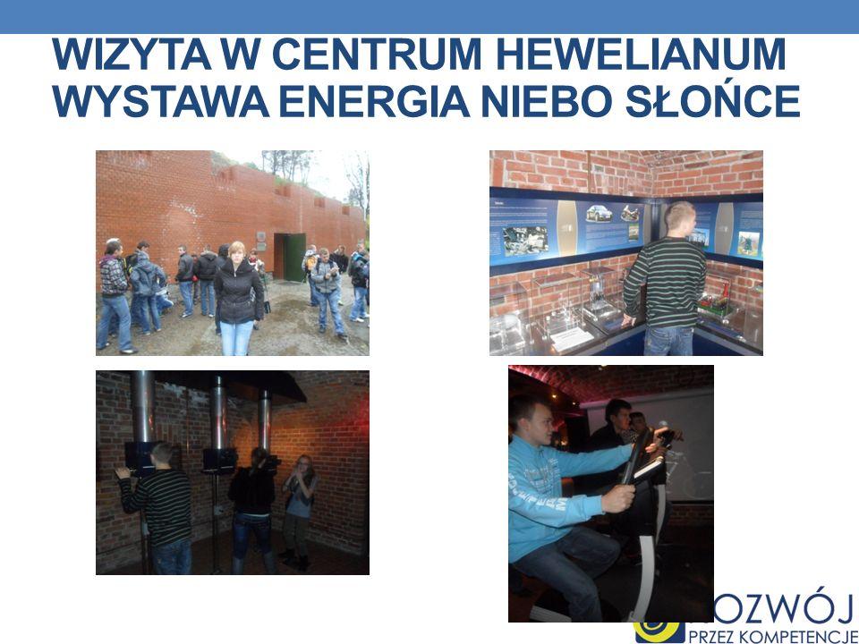 WIZYTA W CENTRUM HEWELIANUM WYSTAWA ENERGIA NIEBO SŁOŃCE