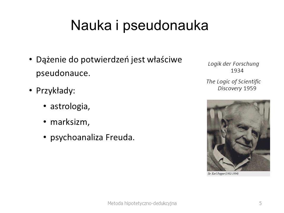 Przykład: Freuda teoria snów Hipoteza: Każdy sen jest (symbolicznym) wyrazem stłumionych pragnień lub obaw.