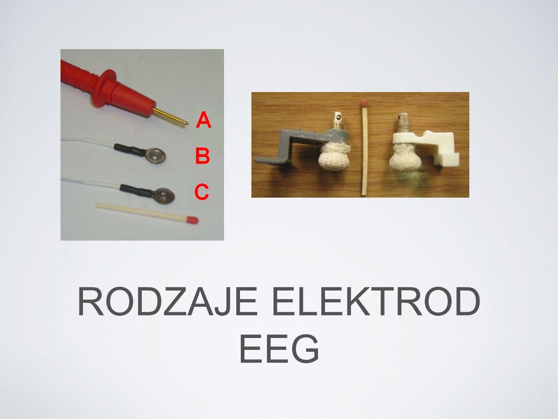 RODZAJE ELEKTROD EEG