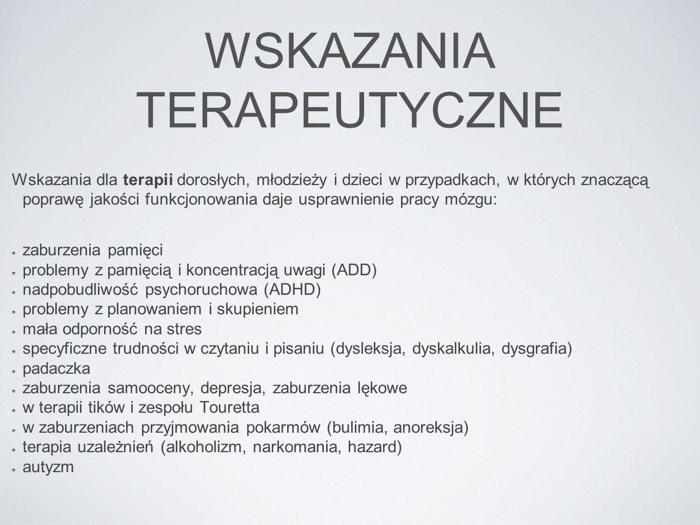 LOKALIZACJA PUNKTÓW TRENINGOWYCH system 10-20