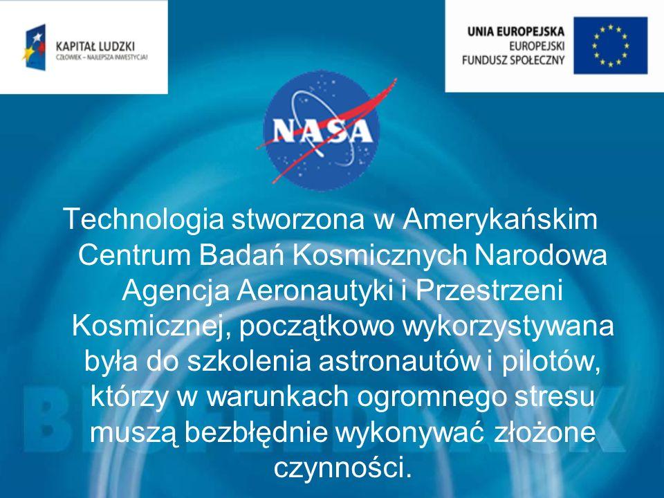Technologia stworzona w Amerykańskim Centrum Badań Kosmicznych Narodowa Agencja Aeronautyki i Przestrzeni Kosmicznej, początkowo wykorzystywana była d