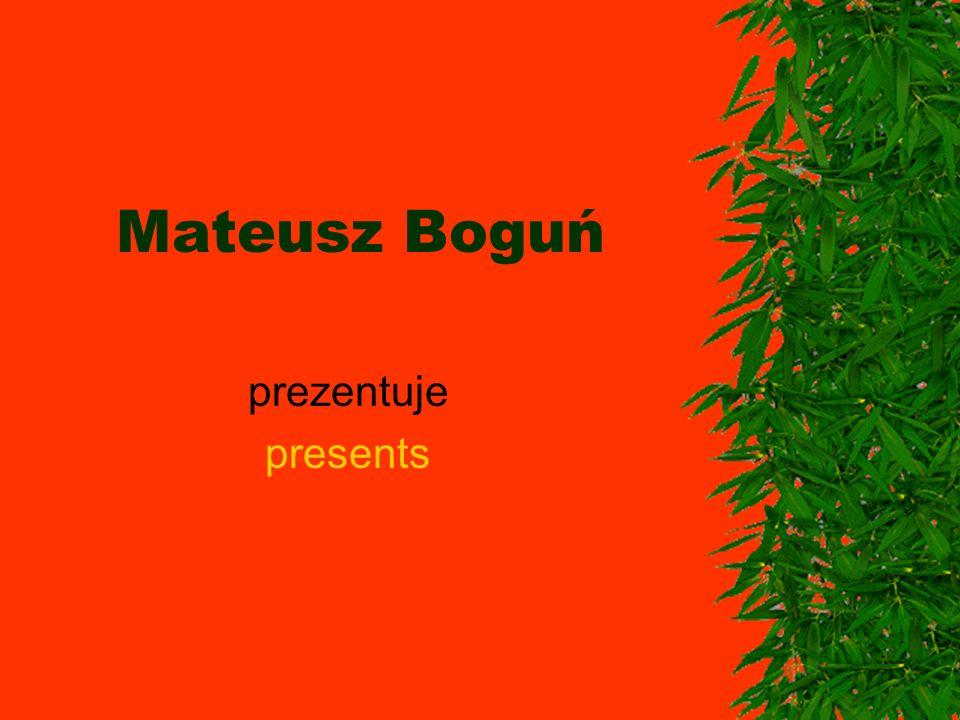 Mateusz Boguń prezentuje presents