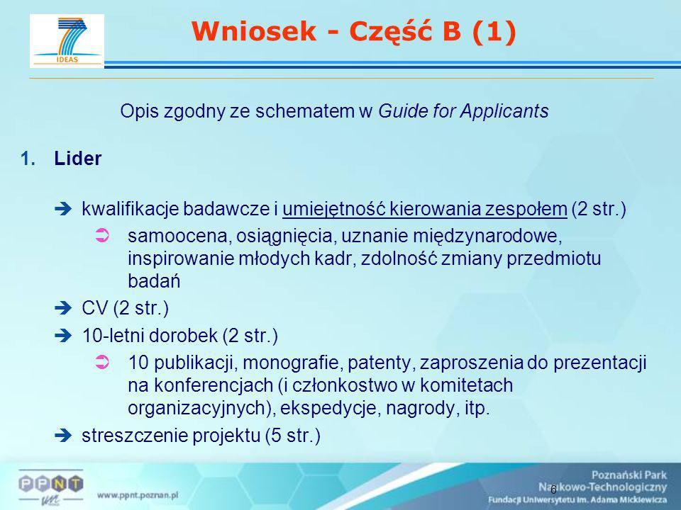 7 Wniosek - Część B (2) 2.Opis naukowo-technicznych aspektów projektu (15 str.) 3.