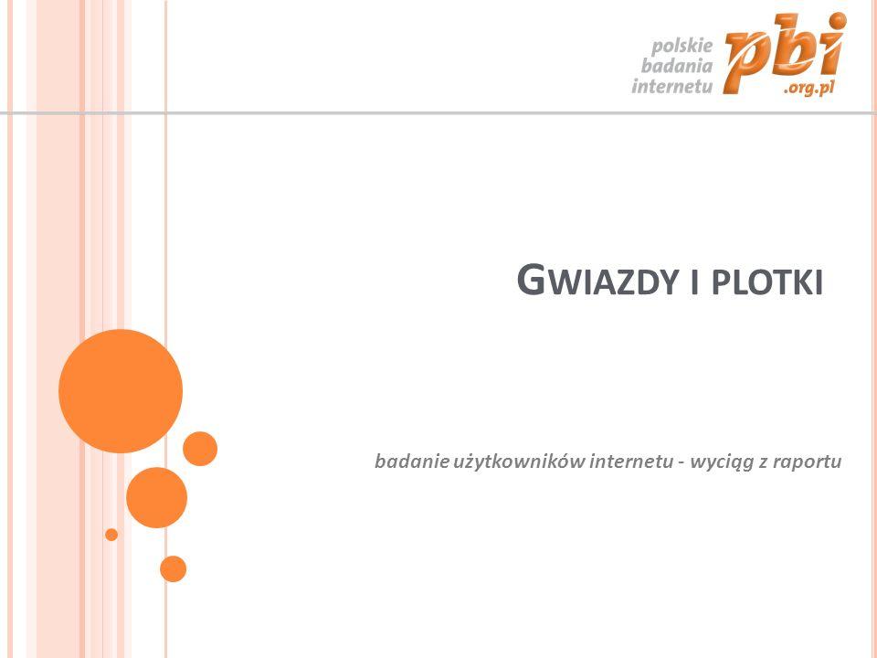G WIAZDY I PLOTKI badanie użytkowników internetu - wyciąg z raportu