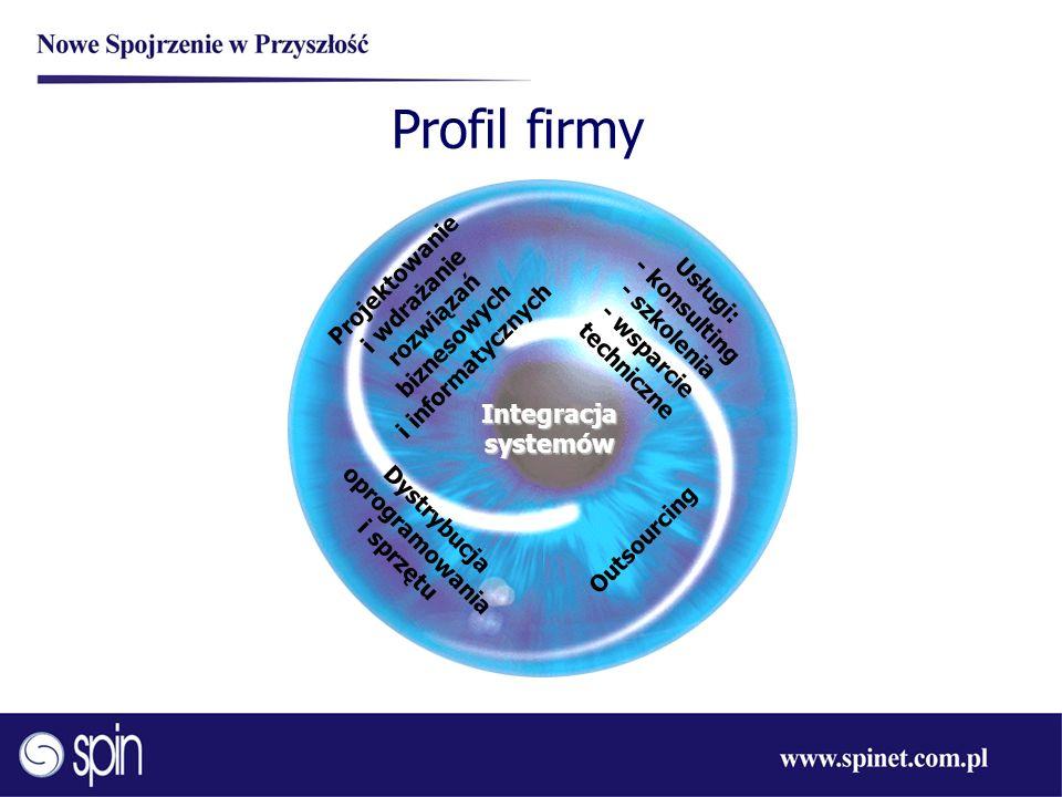 Profil firmy Usługi: - konsulting - szkolenia - wsparcie techniczne Dystrybucja oprogramowania i sprzętu Projektowanie i wdrażanie rozwiązań biznesowy