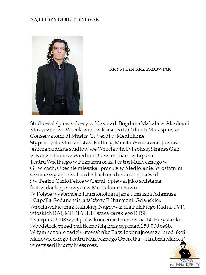 NAJLEPSZY REŻYSER LACO ADAMIK Wybitny reżyser teatralny, filmowy i operowy, autor niezwykłych widowisk telewizyjnych.
