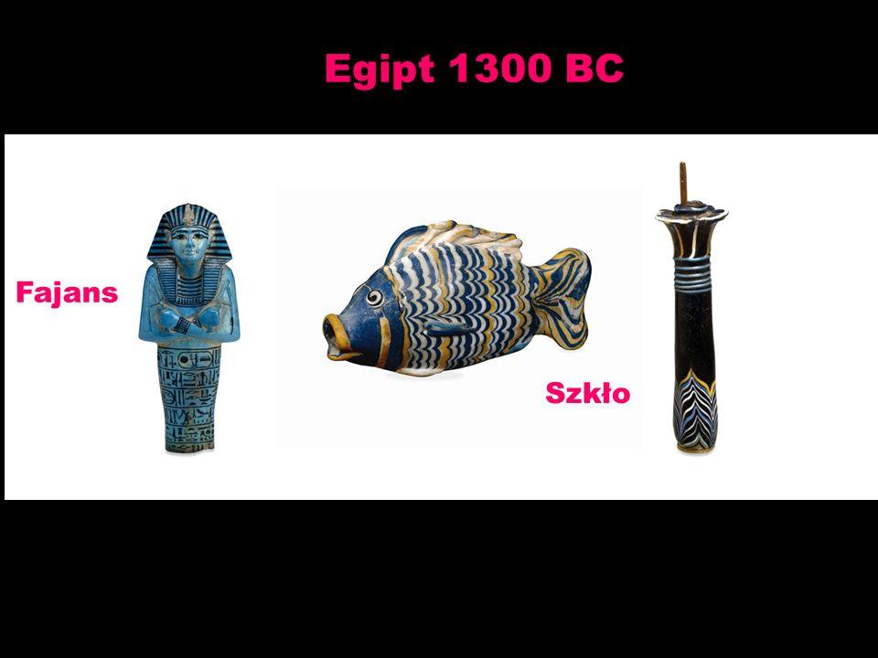 Egipt 1300 BC Fajans Szkło