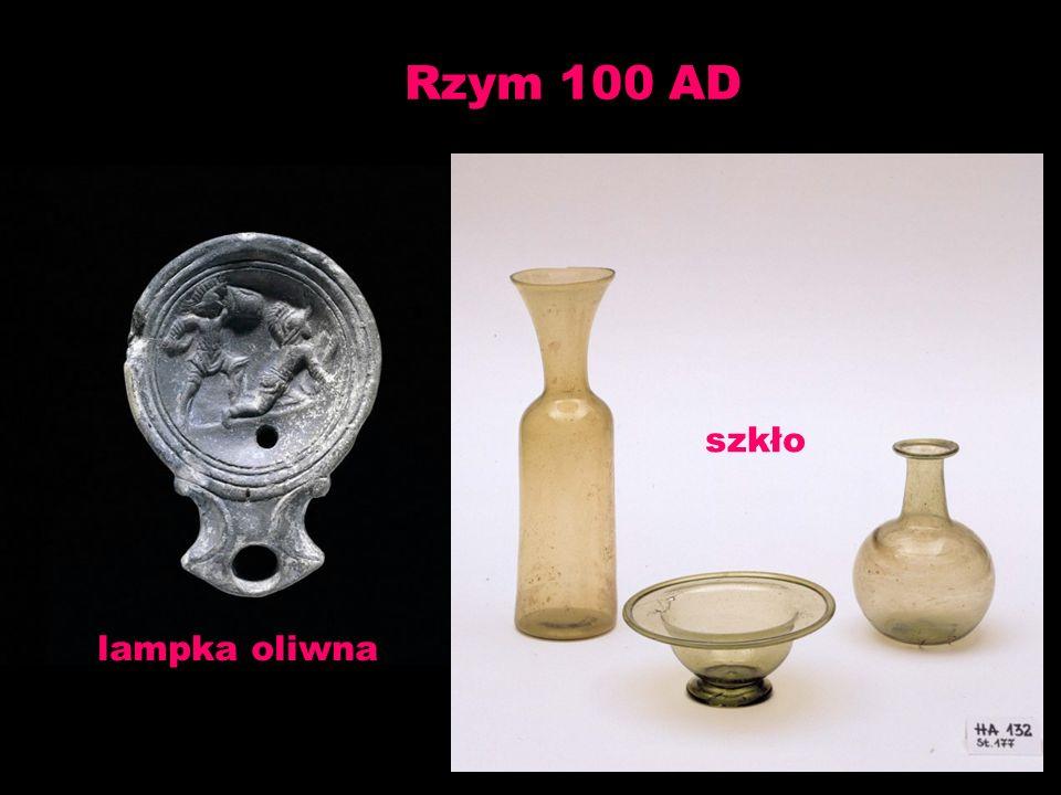 Rzym 100 AD lampka oliwna szkło