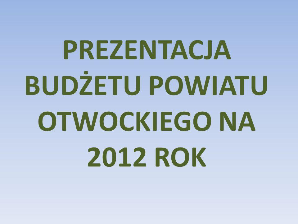 PREZENTACJA BUDŻETU POWIATU OTWOCKIEGO NA 2012 ROK