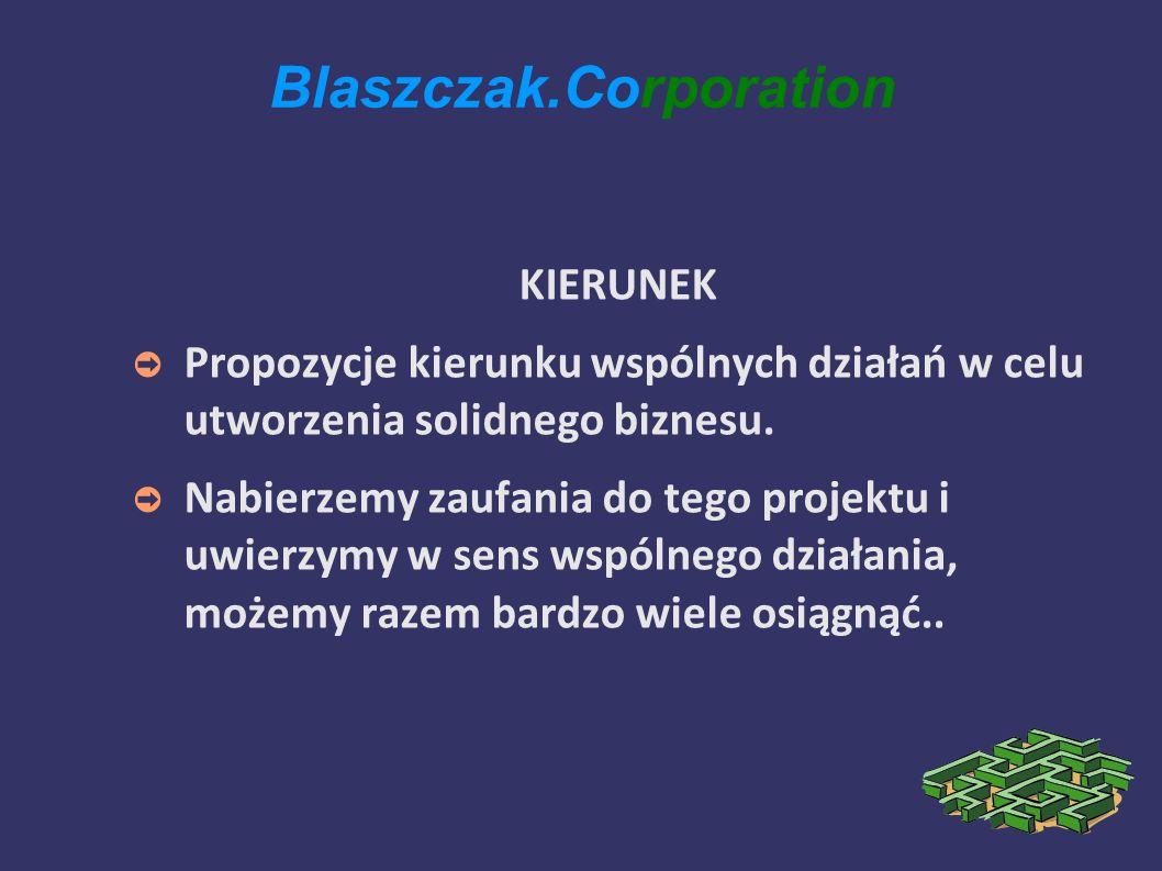 Blaszczak.Corporation KIERUNEK Propozycje kierunku wspólnych działań w celu utworzenia solidnego biznesu.