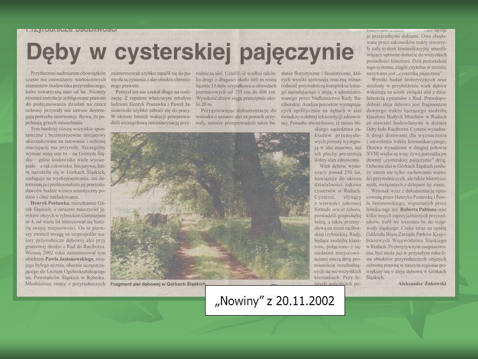 Nowiny z 20.11.2002