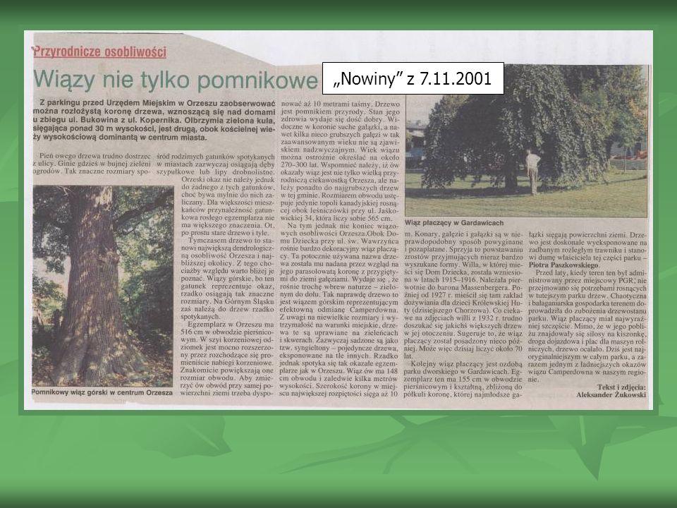Nowiny z 7.11.2001