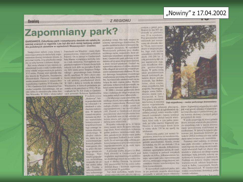 Nowiny z 17.04.2002