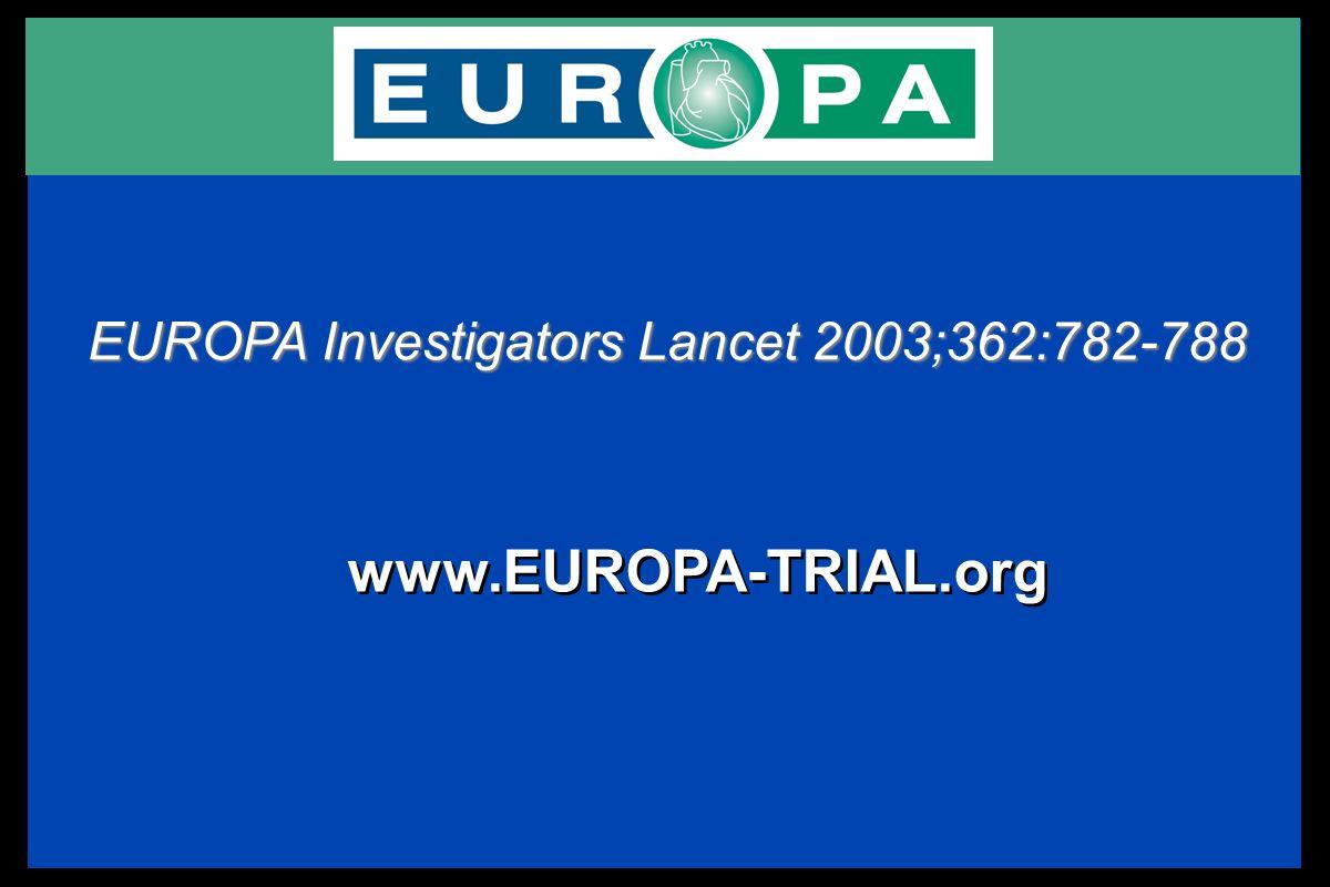 www.EUROPA-TRIAL.org EUROPA Investigators Lancet 2003;362:782-788
