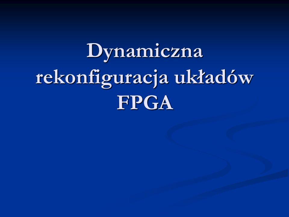 Mariusz Kwiczala Katedra Elektroniki AGH Kraków © 2004 Dynamiczna rekonfiguracja układów FPGA Spis treści Rodzaje rekonfiguracji Rodzaje rekonfiguracji Virtex II Pro Virtex II Pro Podsumowanie Podsumowanie