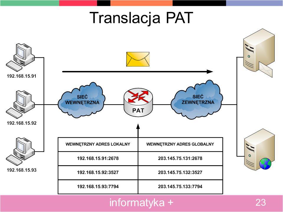 Translacja PAT 23 informatyka +