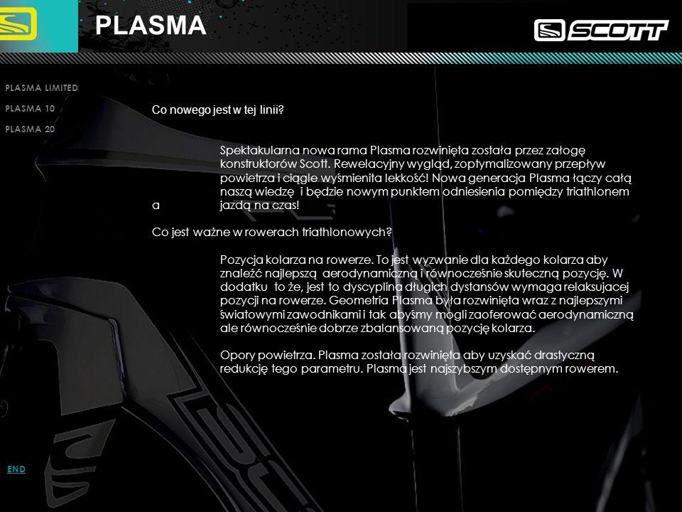 PLASMA LIMITED PLASMA 10 PLASMA 20 INTRO PAGE ENDPLASMA Co nowego jest w tej linii ? Spektakularna nowa rama Plasma rozwinięta została przez załogę ko