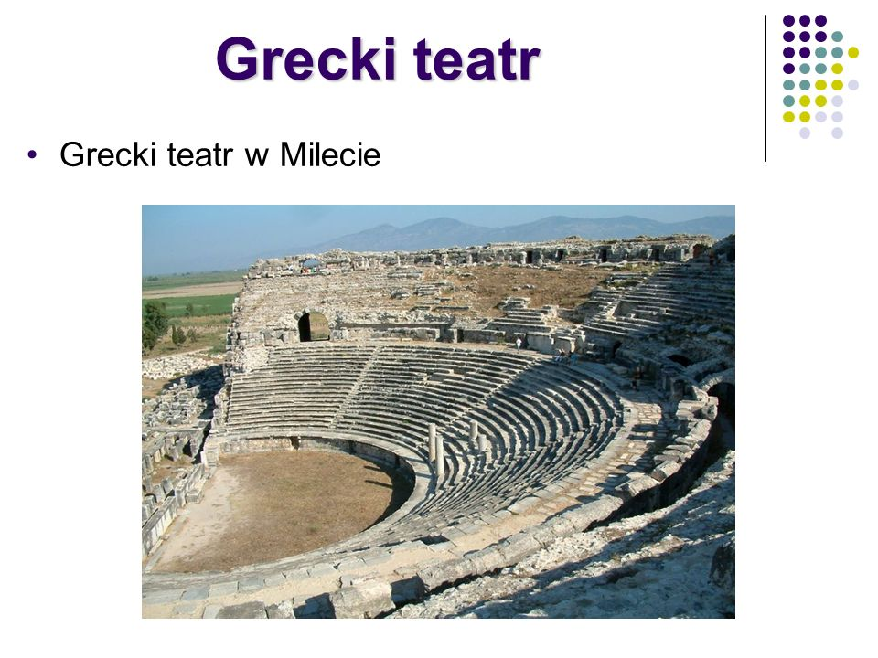 Grecki teatr w Milecie Grecki teatr