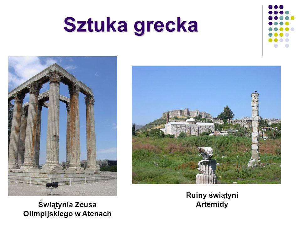 Świątynia Zeusa Olimpijskiego w Atenach Ruiny świątyni Artemidy Sztuka grecka