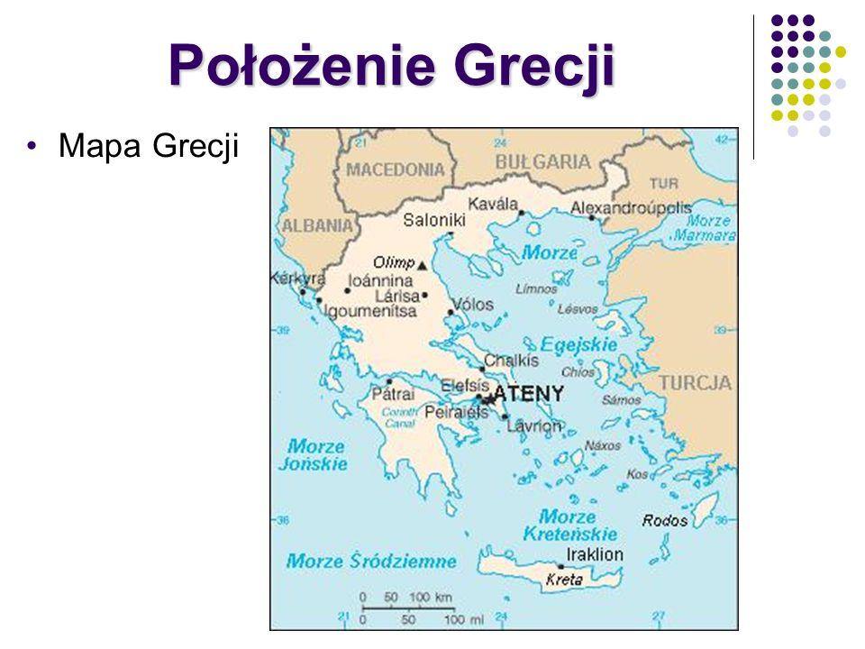Mapa Grecji Położenie Grecji