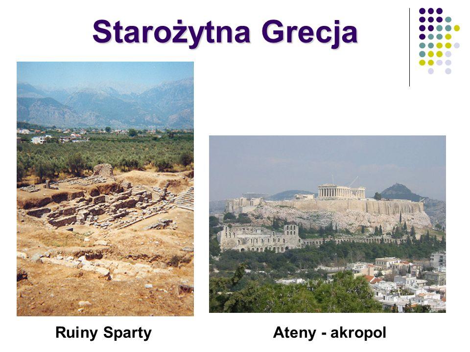 Ruiny SpartyAteny - akropol Starożytna Grecja