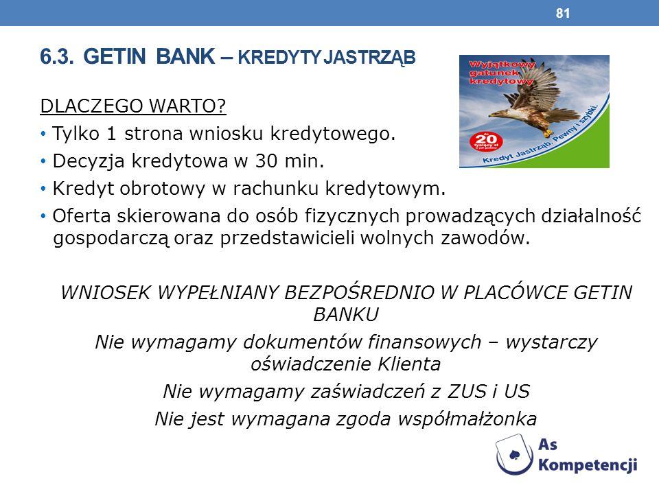 6.3.GETIN BANK – KREDYTY JASTRZĄB DLACZEGO WARTO.