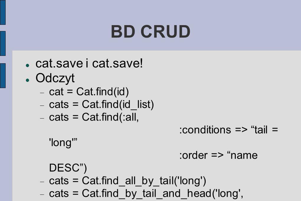 BD CRUD cat.save i cat.save.