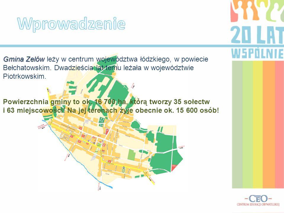 Gmina Zelów Gmina Zelów leży w centrum województwa łódzkiego, w powiecie Bełchatowskim.